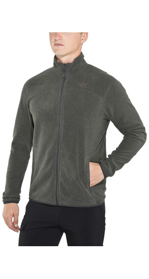 The North Face 100 Glacier Full Zip Men Fusebox Grey Black Heather